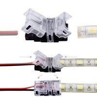 Connexion rapide ruban LED IP65 2 pôles - Cable 10mm