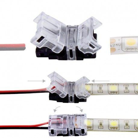 Connexion rapide ruban LED Mono IP65 - Cable 10 mm - 2p
