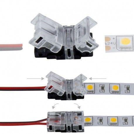 Connexion rapide ruban LED Mono IP20 - Cable 10 mm - 2p