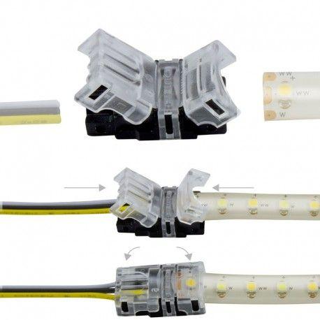 Connexion rapide ruban LED CCT IP65 - Cable 10 mm - 3p