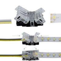 Connexion rapide ruban LED CCT IP20 - Cable 10 mm - 3p