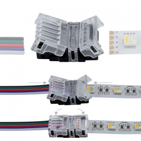 Connexion rapide ruban LED RGBW IP20 - Cable 12 mm - 5p