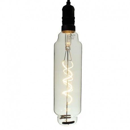 Ampoule LED à filament Spirale Cylindre - E27 - 4W - 2700K - Dimmable - TT80