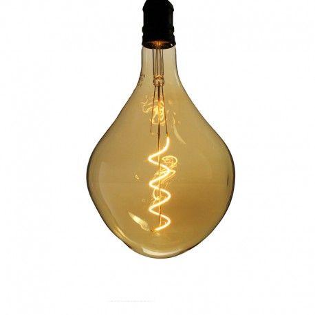 Ampoule LED filament Spirale cabot Ambrée - E27 - 4W - 2200K - Dimmable - PS165