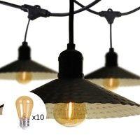 Pack Guirlande Guinguette 10m + ampoules LED x10