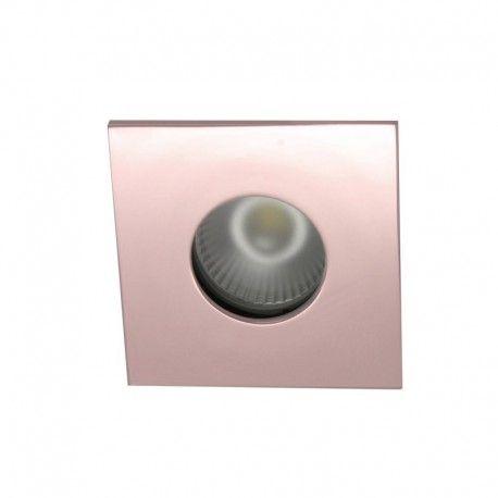 Spot encastrable collerette carrée flat SPLIT - Or rose brillant
