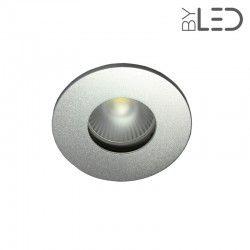 Collerette pour support GU10 - Ronde flat SPLIT - Alu mat