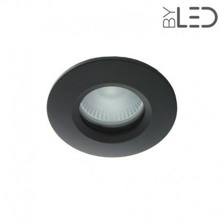 Spot encastrable collerette ronde chanfrein SPLIT - Noir
