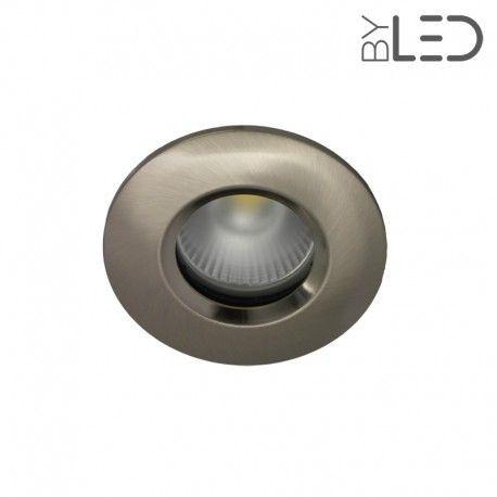 Spot encastrable collerette ronde chanfrein SPLIT - Nickel satiné