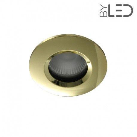 Spot encastrable collerette ronde chanfrein SPLIT - Or brillant