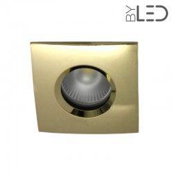 Collerette pour support GU10 - Carrée chanfrein SPLIT - Or brillant
