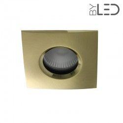 Collerette pour support GU10 - Carrée chanfrein SPLIT - Or satiné