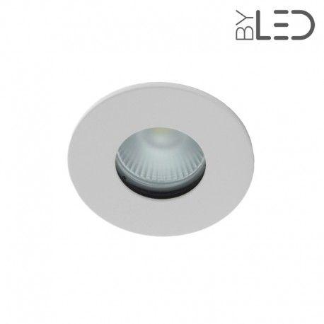 Collerette ronde flat SPLIT - Blanc mat