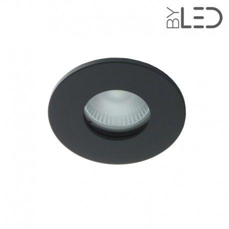 Collerette pour support GU10 - Ronde flat SPLIT - Noir