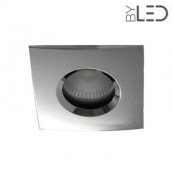 Spot encastrable GU10 BBC / RT2012 - Carré chanfrein - Chrome - Split