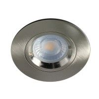 Spot encastrable IP 65 pour LED GU10 – CLASS rond – Nickel satiné