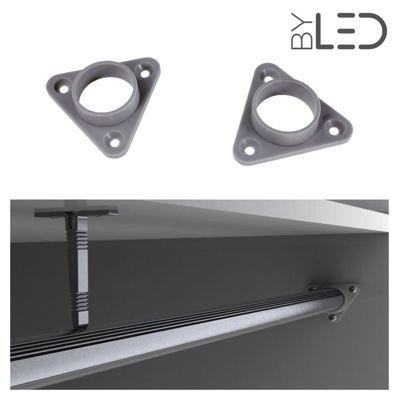Embout de penderie pour profilé LED tube (la paire) - T01
