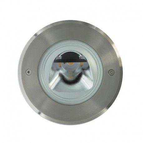 Spot LED encastré de sol orientable inox 15W - 230V - QINOX 180 mm