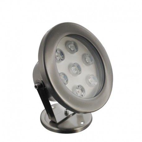 Spot LED encastré de sol immergeable inox 7W - 12V - Hydro 145mm