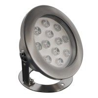 Spot LED immergeable inox orientable - 12W - 12V - Hydro 190mm