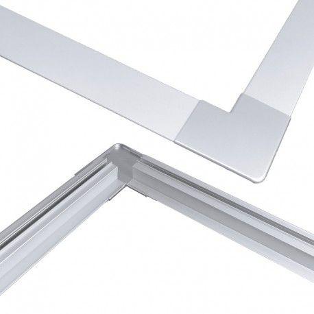Jonction d'angle à plat pour profilé M04