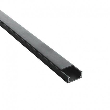 Profilé LED aluminium ruban LED plat noir – CRAFT - C01