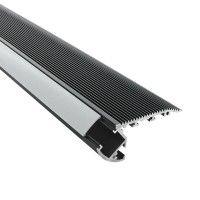 Profilé aluminium noir marches escaliers pour ruban LED - S02 - CRAFT