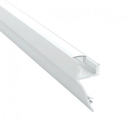 Profilé aluminium corniche laqué blanc pour ruban LED - CRAFT - M01
