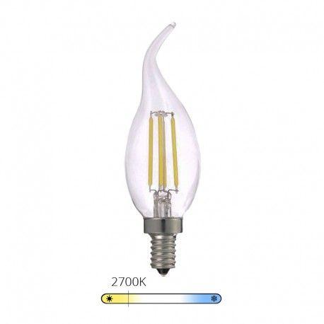 Ampoule LED à filament Bougie - Blanc Chaud - E14 – 4W - Dimmable