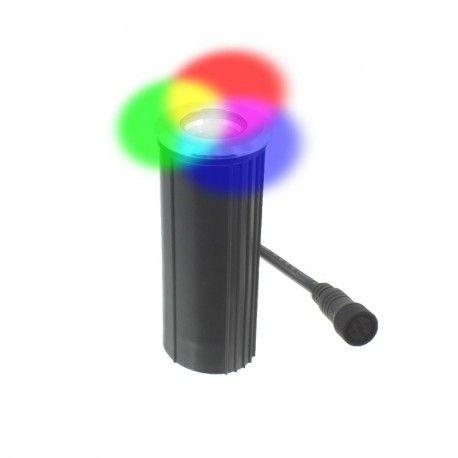 Spot LED encastré de sol inox 4W 24V - Decks 4 - RGBW