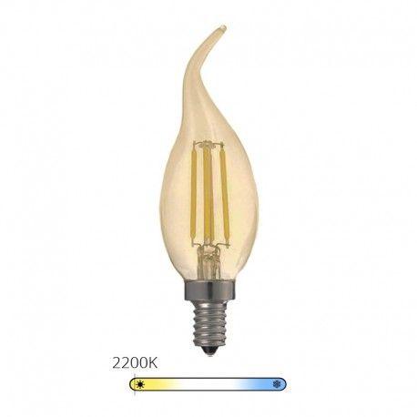 Ampoule LED à filament Bougie - Ambrée - E14 – 4W - Dimmable