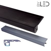 Profilé aluminium contre-marches escaliers pour ruban LED - CRAFT - S01