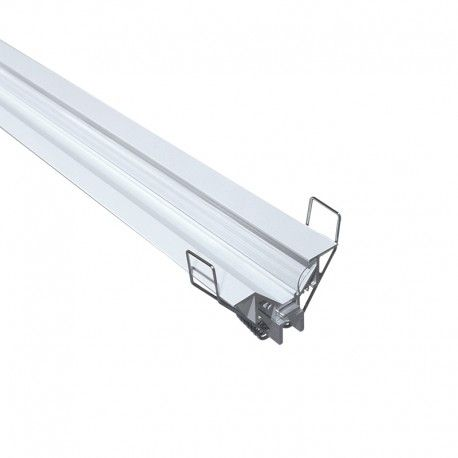 Profilé LED aluminium corniche encastrable – CRAFT – M05 - Diffuseur transparent