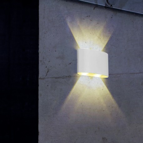 Applique LED murale blanche double direction 4W - Focal