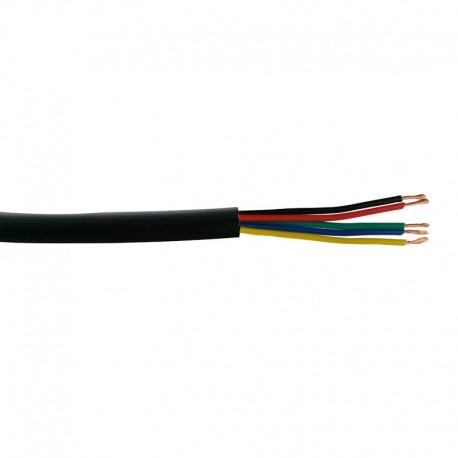 Câble gainé électrique 5x0.5mm² H03VV-F RGBW