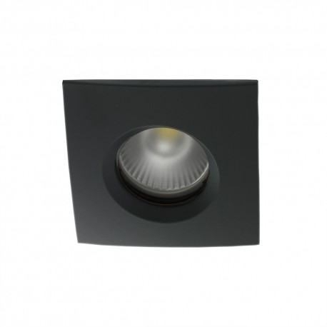 Spot encastrable collerette carrée chanfrein SPLIT - Noir