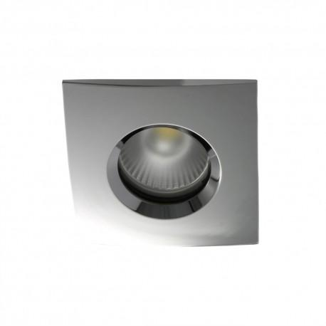 Spot encastrable collerette carrée chanfrein SPLIT - Chrome