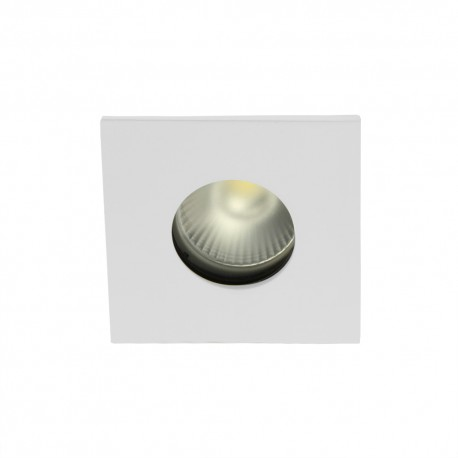 Spot encastrable collerette carrée flat SPLIT - Blanc mat