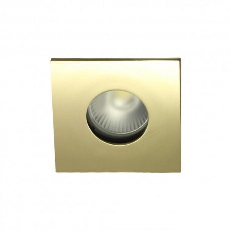 Spot encastrable collerette carrée flat SPLIT - Or brillant
