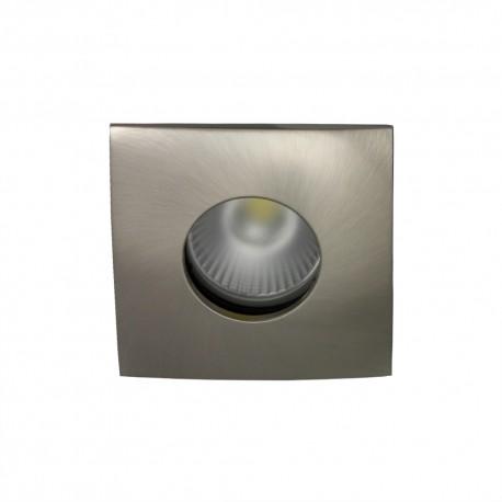Spot encastrable collerette carrée convex SPLIT - Nickel satiné