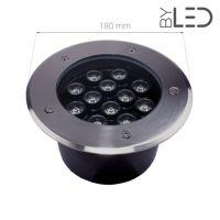 Spot LED encastré de sol inox 230V 12 W - Terra 12 - Blanc(s)