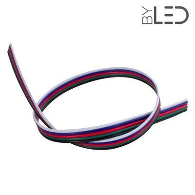 Câble pour ruban RGB + Blanc (au mètre)