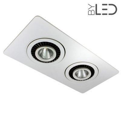 multi spots encastrables led orientables 2x7 watts byled. Black Bedroom Furniture Sets. Home Design Ideas