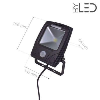 Projecteur LED Design à détecteur 10 W - 230V - RHINO