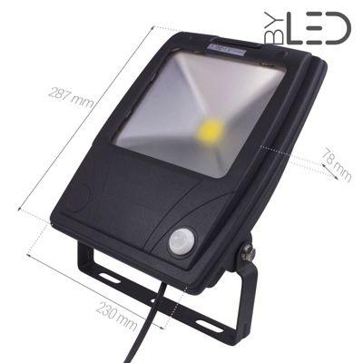 Projecteur LED Design à détecteur 80 W - 230V - RHINO