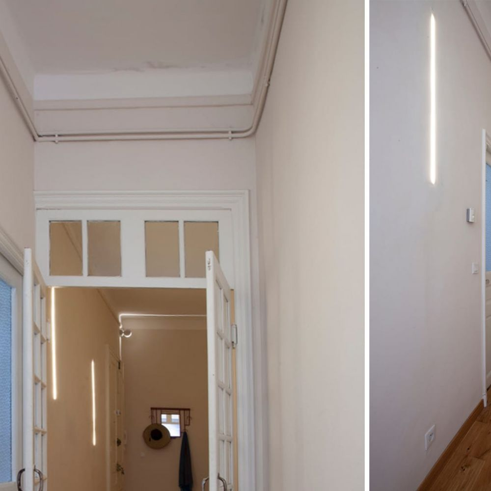 Bandeau Led Encastrable Plafond profil linéaire en plâtre pour ruban led – 1m staff