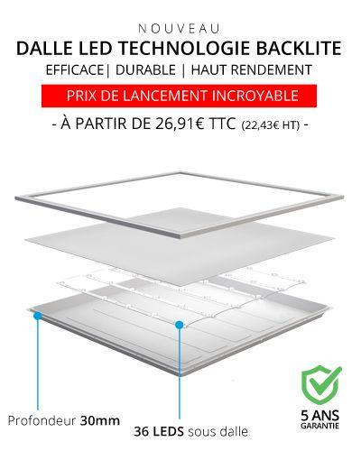 Dalle LED technologie Backlite par ByLED